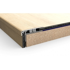 Вспомогательный алюминиевый профиль Quick Step Incizo Livyn для лестниц NEVINCPBASE1